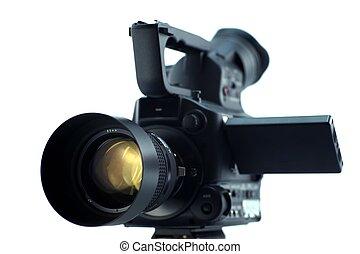 câmera, frente
