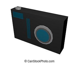 câmera, ilustração, digital