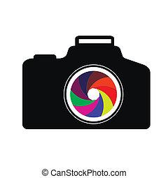 câmera, ilustração