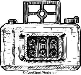 câmera, multi-lenses