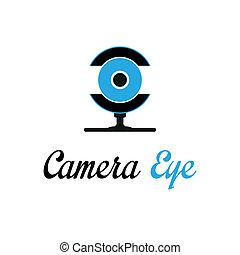 câmera, olho