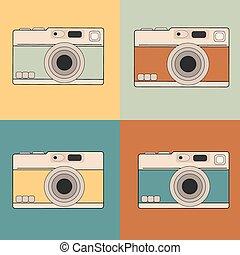 câmera, retro