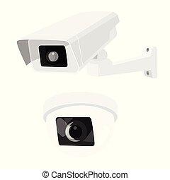 câmera segurança, cctv, jogo, vigilância