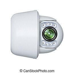 câmera segurança, modernos, isolado