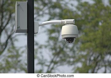 câmera segurança, vídeo, cctv, ao ar livre, vigilância