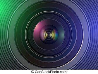 câmera, tecnologia, lente, fundo