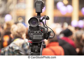 câmera, vídeo