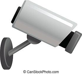 câmera vigilância, vista