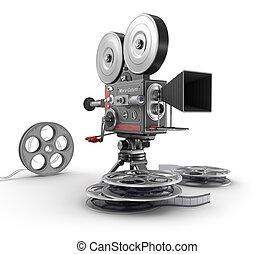 câmera vintage, película, filme