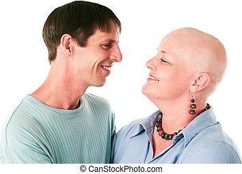 câncer, paciente, amor, marido