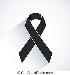 câncer, vetorial, consciência, fita