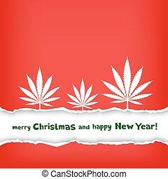 cânhamo, parabéns, natal