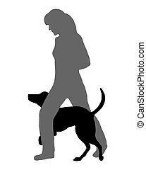 cão, agilidade, (obedience):, command:, corrida, através