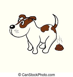 cão, defecates