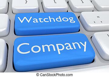 cão guarda, companhia, software, conceito