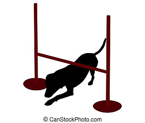 cão, (obedience):, command:, rastejar, treinamento