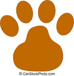 cão, pata, corte arte