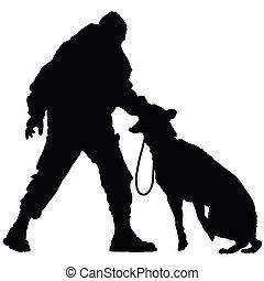cão, polícia, 2