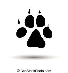 cão, rastro, ícone