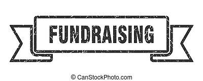 cégtábla., banda, grunge, ribbon., transzparens, fundraising