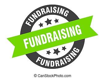 cégtábla., címke, szalag, kerek, sticker., fundraising