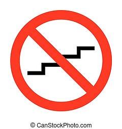 cégtábla., feláll, lépcsőfok, nem