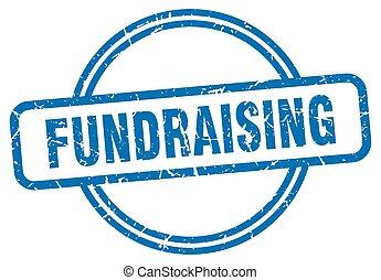 cégtábla., fundraising, kerek, stamp., grunge, szüret