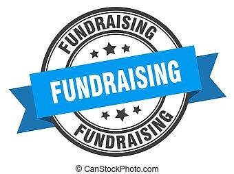 cégtábla., fundraisinground, label., bélyeg, banda, ...