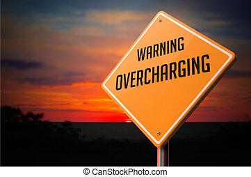 cégtábla., overcharging, figyelmeztetés, út
