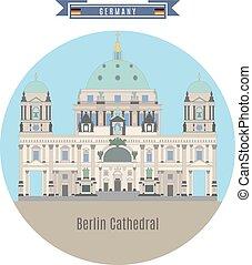 célèbre, berlin, germany:, endroits, cathédrale
