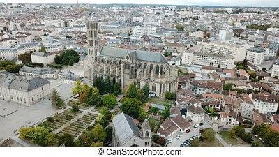 célèbre, cathédrale, ville, limoges, gothique, europe, france