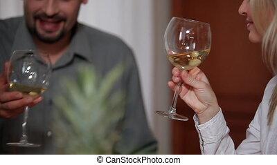 célèbre, famille, vin