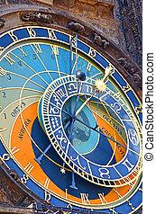 célèbre, prague, horloge astronomique
