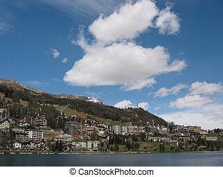 célèbre, rue., moritz, recours, ski, suisse