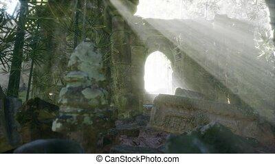 célèbre, temple, secteur, wat, cambodgien, ruines, angkor