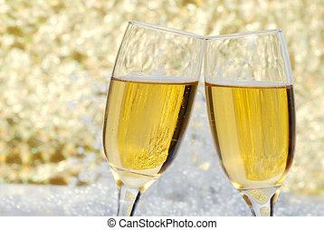 célébration, champagne