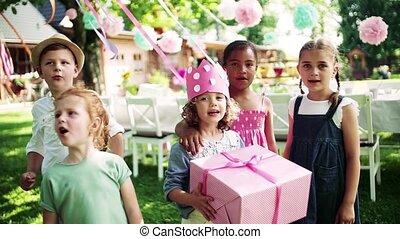 célébration, jardin, été, anniversaire, concept., fête, ...