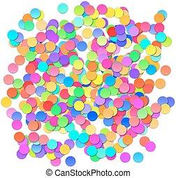 célébration, vecteur, fond, coloré, confetti.