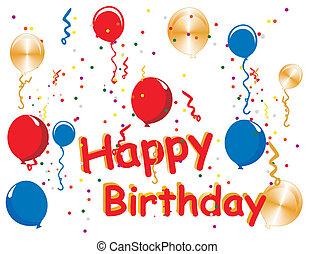 célébrations, anniversaire, heureux