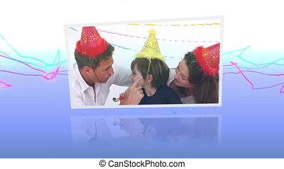 célébrations, anniversaire, montage