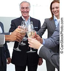 célébrer, équipe, reussite, business