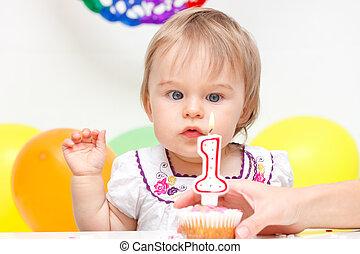 célébrer, anniversaire, premier