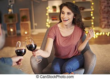 célébrer, couple, événement, spécial, ensemble