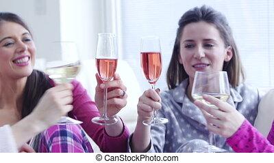 célébrer, dames, maison