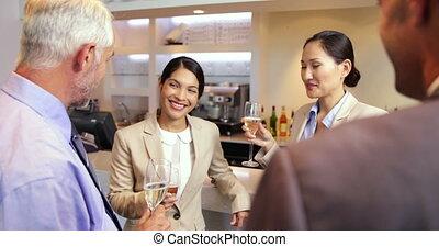célébrer, partenaires, business, travail, après