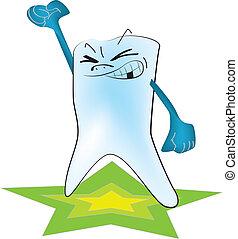 célébrité, dent