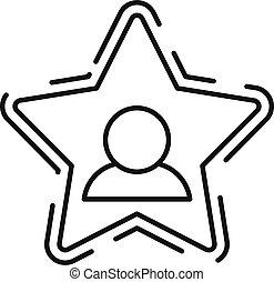 célébrité, style, icône, contour, étoile, avatar