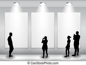 cél, árnykép, illustration., világűr keret, emberek, szöveg, vagy, advertisement., lámpa, vektor, világítás, háttér, -e, üres, néz