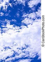 céleste, bleu clair, ciel, à, rayons soleil