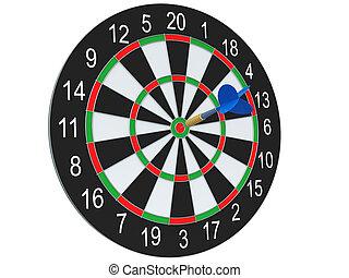 céltábla közepe, darts